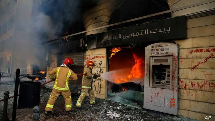 Citizens Burn Banks in LIbya
