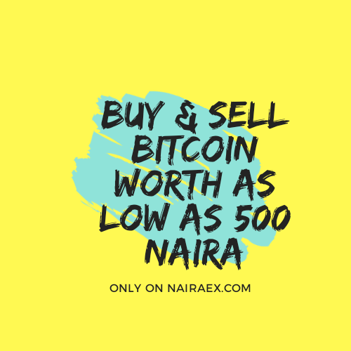 Buy 500 Naira Bitcoin in Nigeria