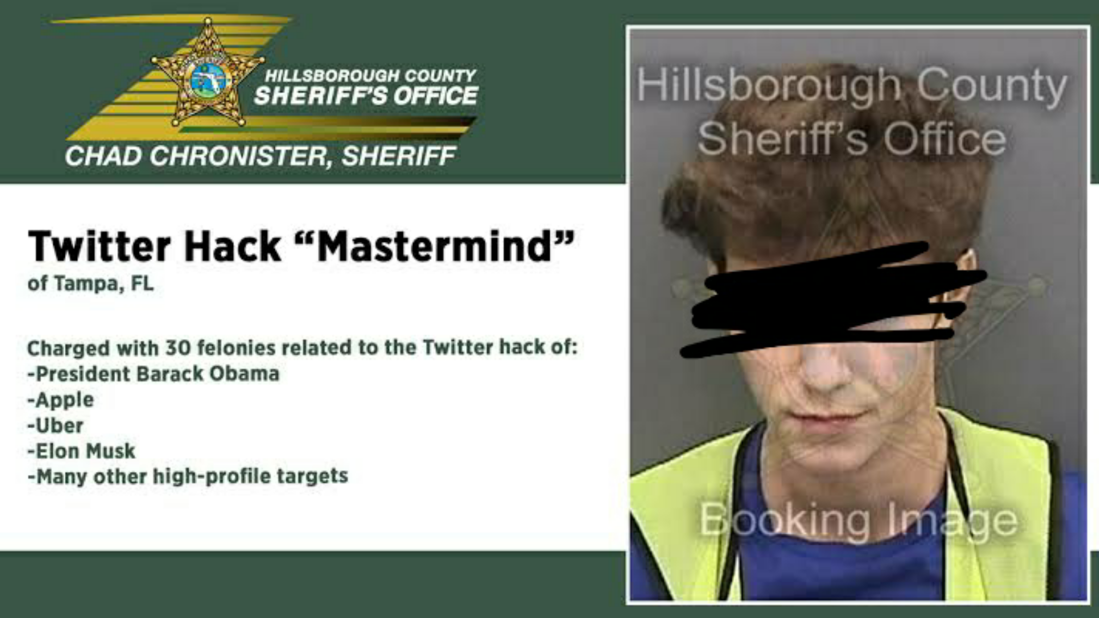17 Year Old Twitter 'Bitcoin' Hacker Arrested